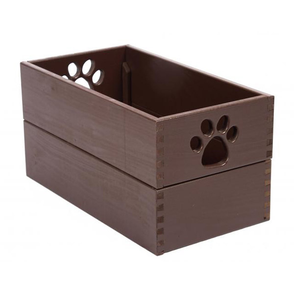 Pet Toy Box - Mahogany