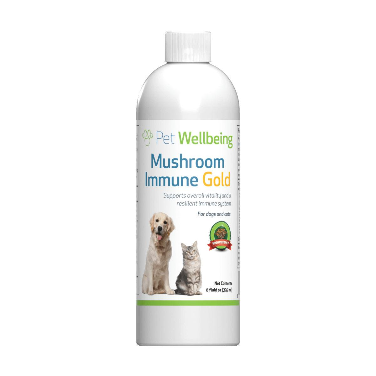 Pet Wellbeing Mushroom Immune Gold Cancer Support for Dogs and Cats