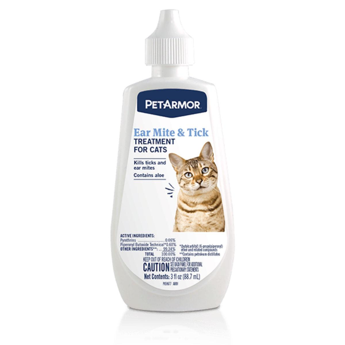 PetArmor Ear Mite and Tick Treatment for Cats