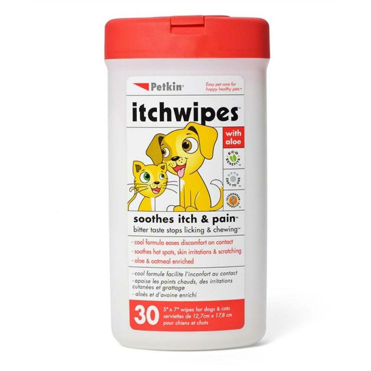PetKin Itch Wipes for Dogs and Cats