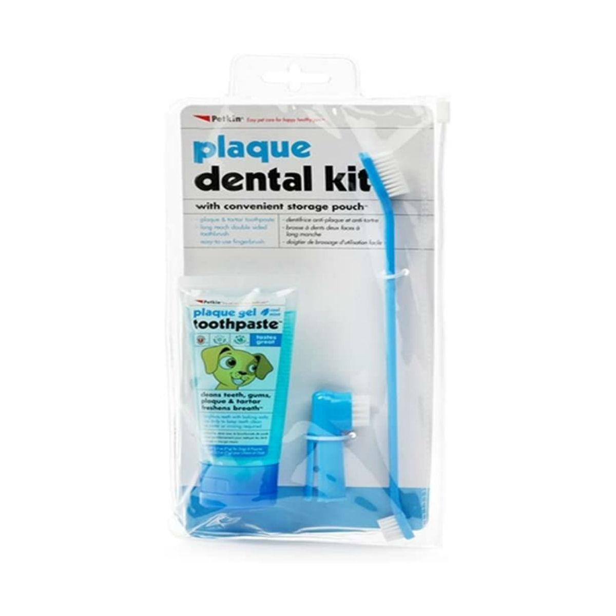 PetKin Plaque Dental Kit for Dogs - Mint