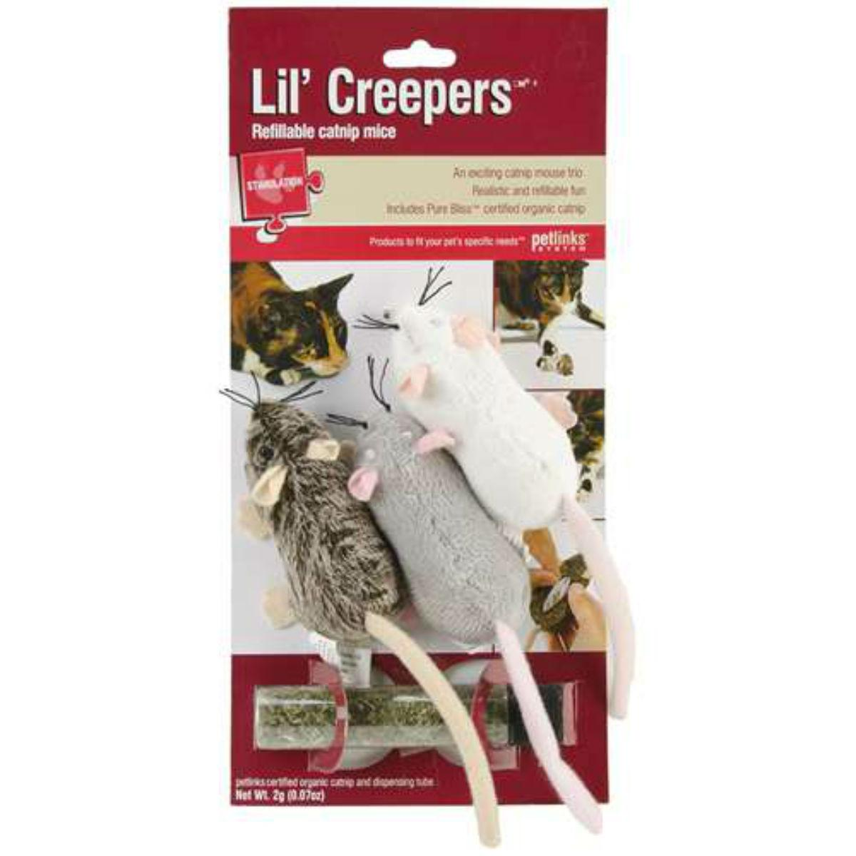 Petlinks Refillable Lil Creepers Cat Toy