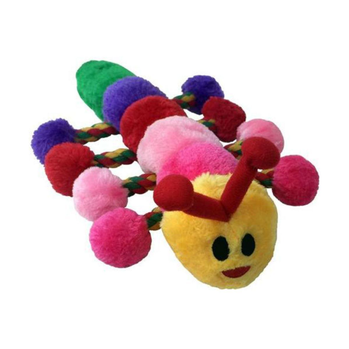 PetLou Caterpillar Plush Rope Dog Toy