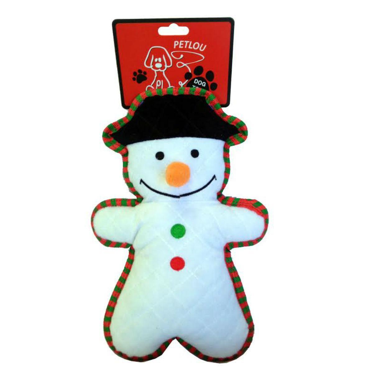 PetLou Christmas Bite Me Dog Toy - Snowman
