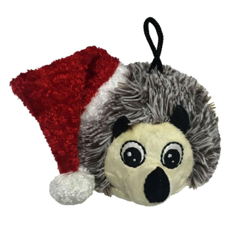 PetLou Christmas EZ Squeaky Hedgehog Dog Toy