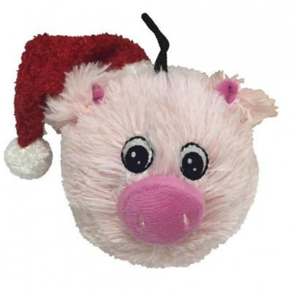 PetLou Christmas EZ Squeaky Pig Dog Toy