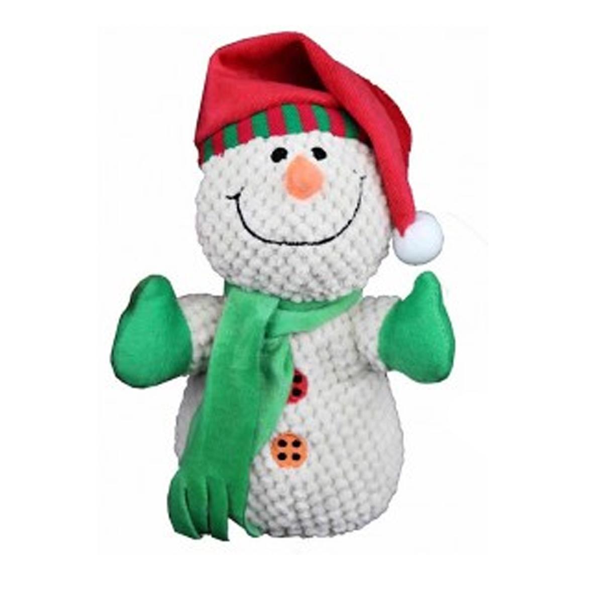 PetLou Christmas Snowman Dog Toy