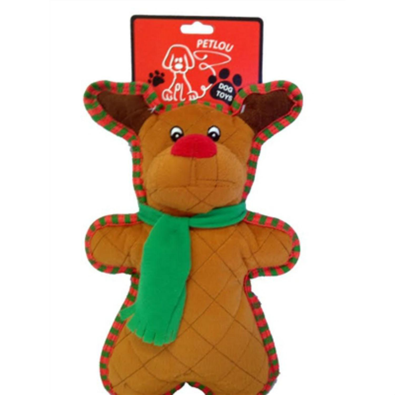 PetLou Holiday Bite Me Reindeer Dog Toy