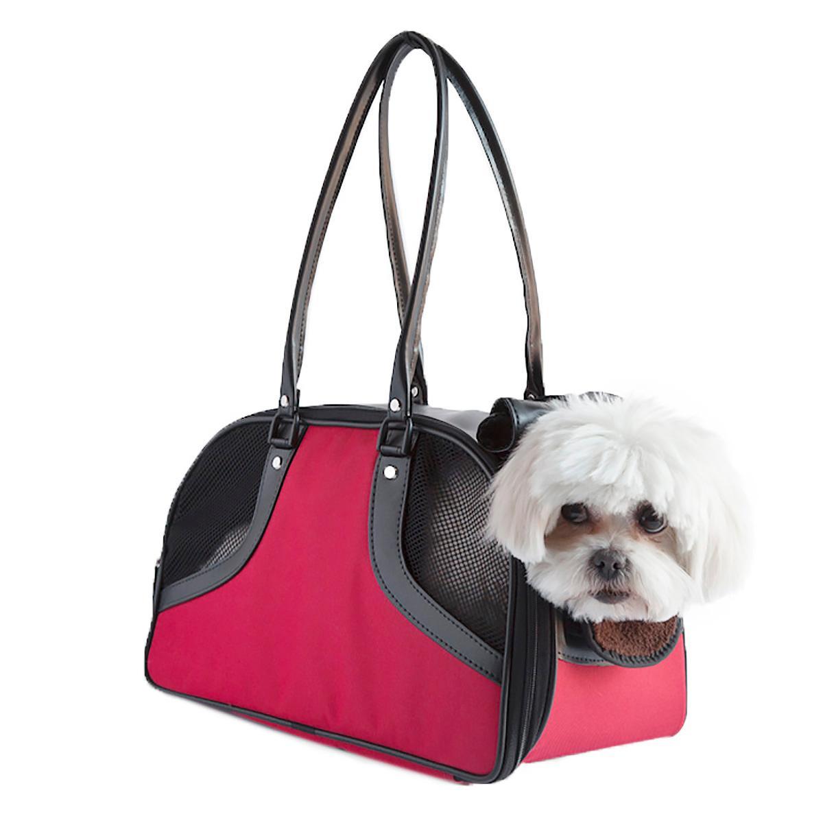 Petote Roxy Dog Carrier Handbag - Red