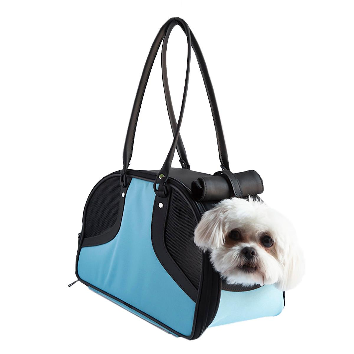 Petote Roxy Dog Carrier Handbag - Turquoise & Black