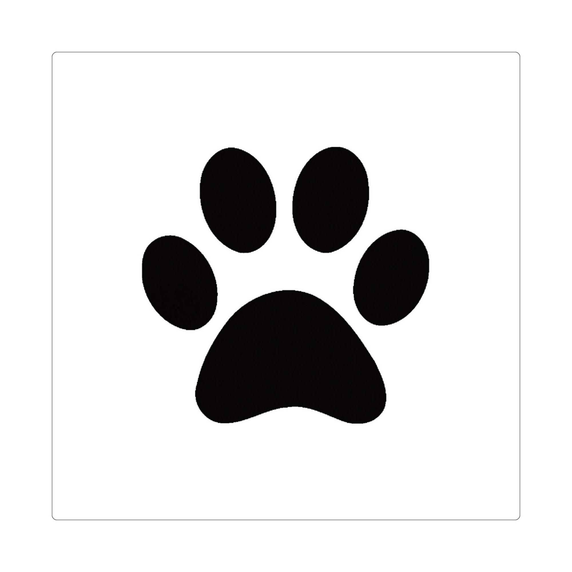 PetPaint Color Dog Hair Stencil - Paw | BaxterBoo