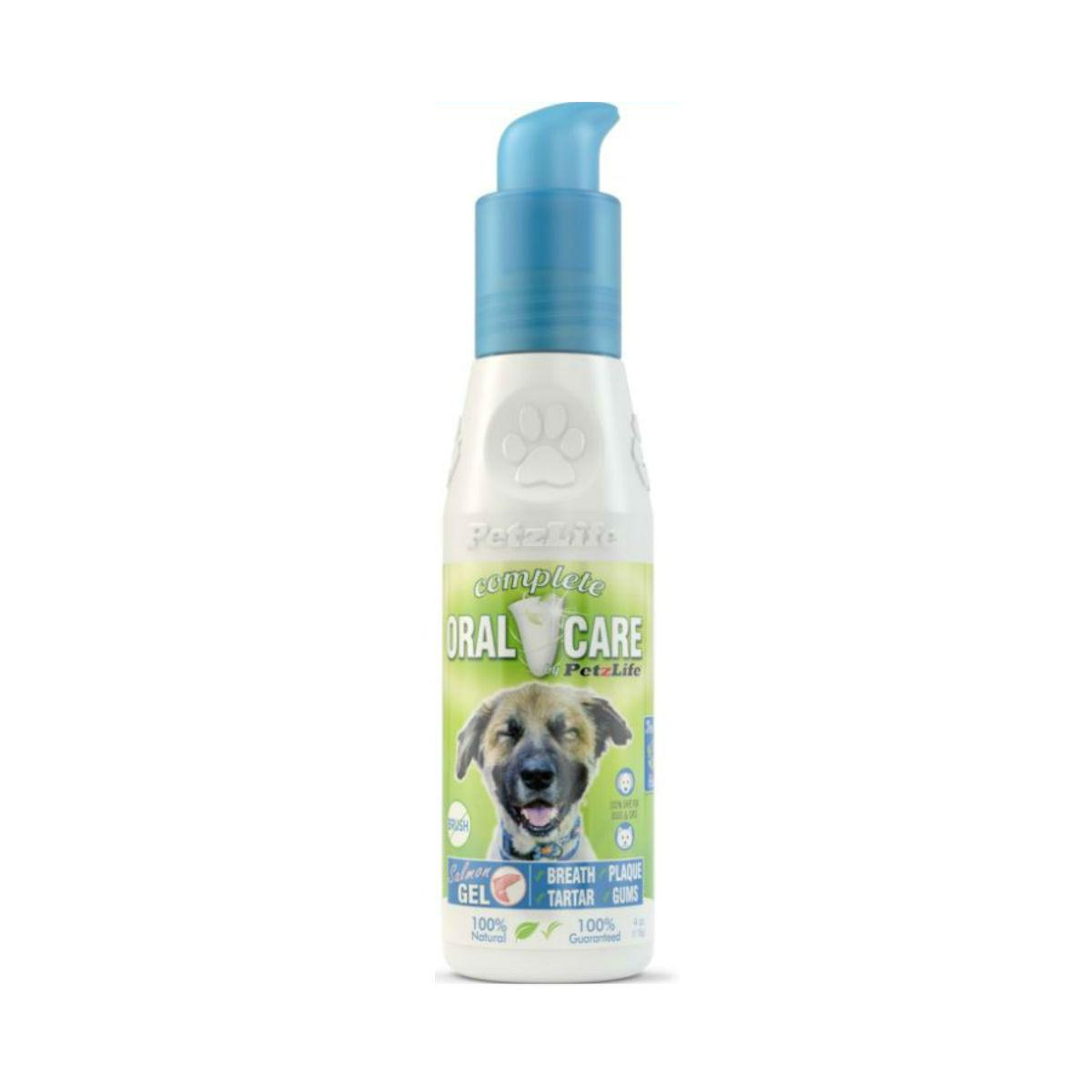 PetzLife Complete Oral Care Gel for Dogs and Cats - Salmon Oil