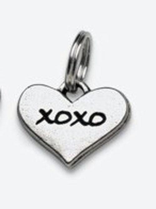 Pewter Dog Collar Charm Charm: XOXO (Hugs & Kisses)