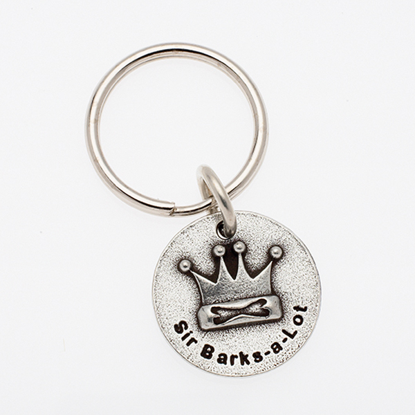 Pewter Pet Lover Keychain - Sir Barks A Lot