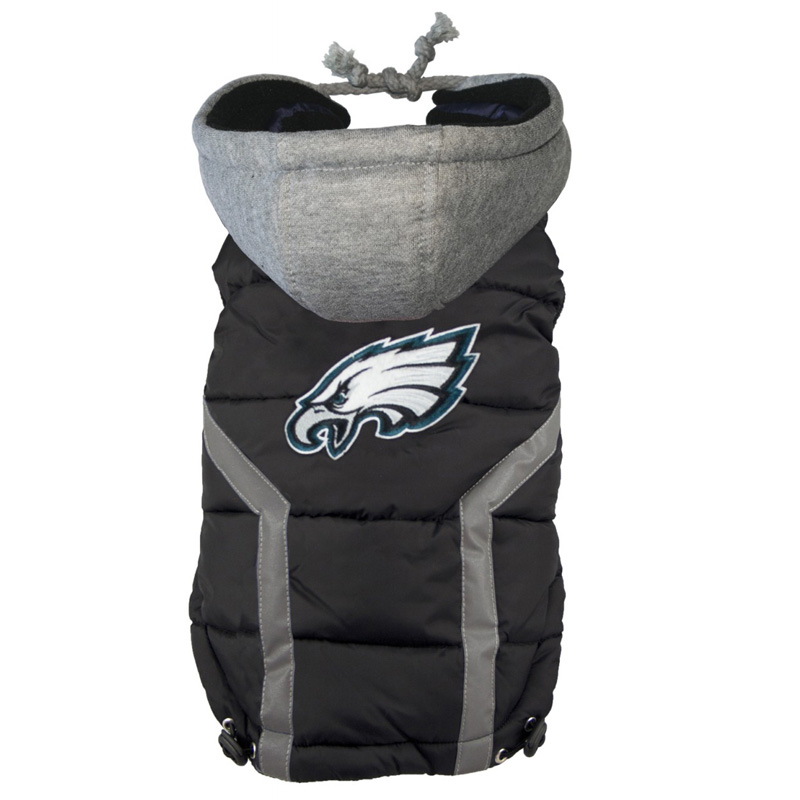 buy online c336c fb79d Philadelphia Eagles Dog Puffer Vest