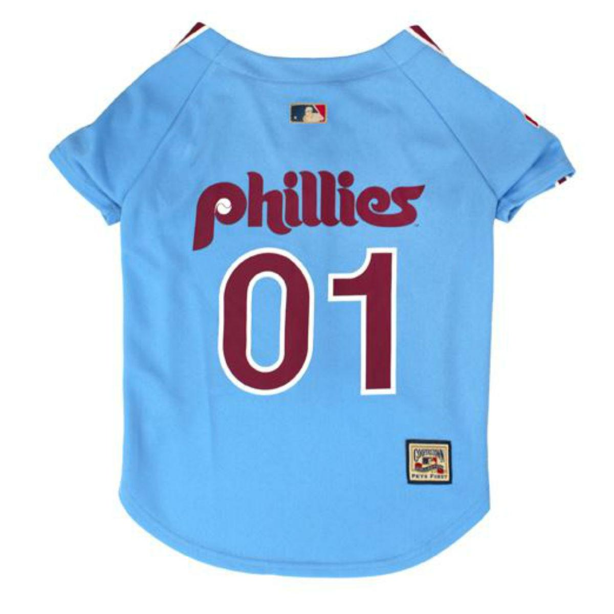 Philadelphia Phillies Baseball Dog Jersey - Throwback