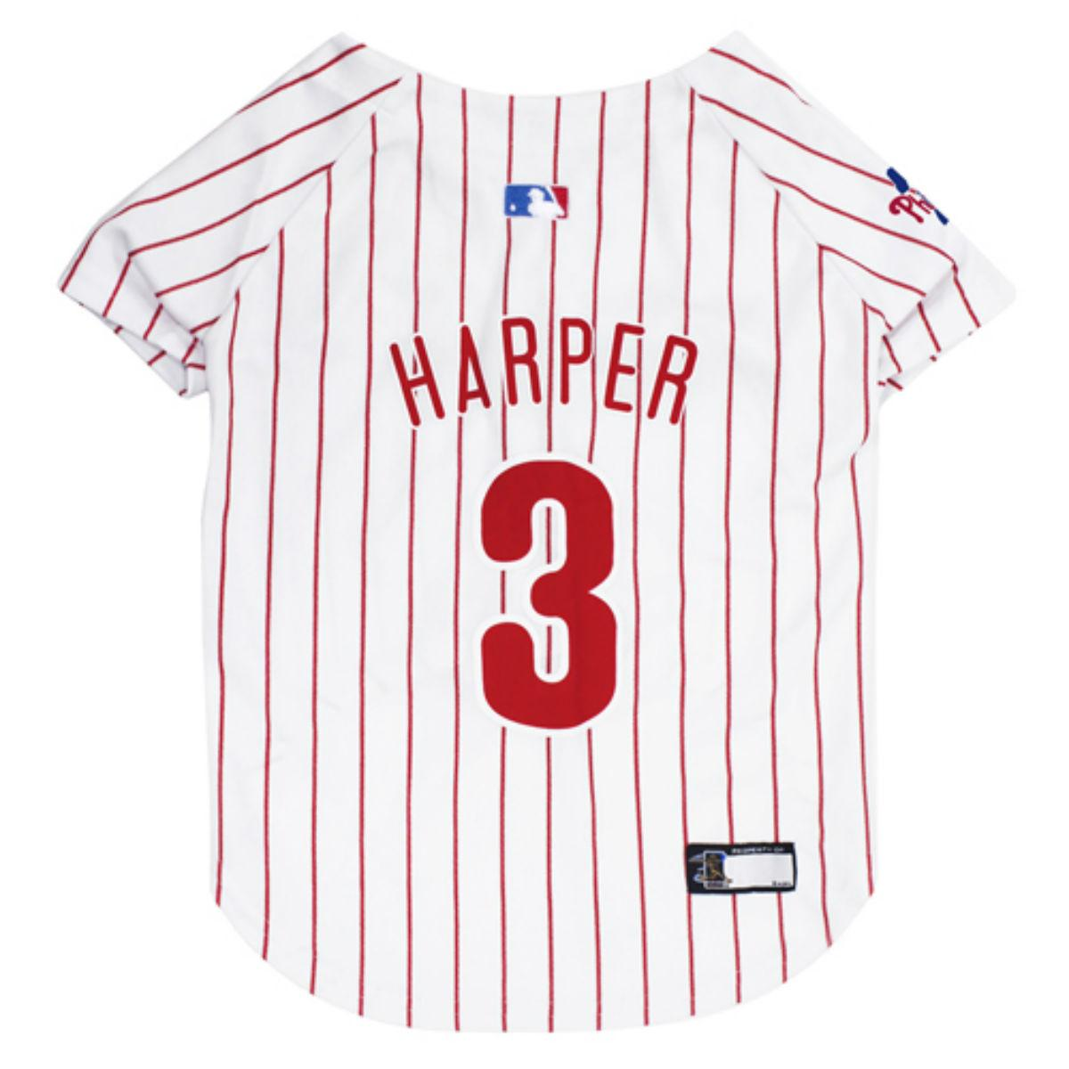 the latest 95b78 0c9d8 Philadelphia Phillies Bryce Harper Dog Jersey - Pinstripe