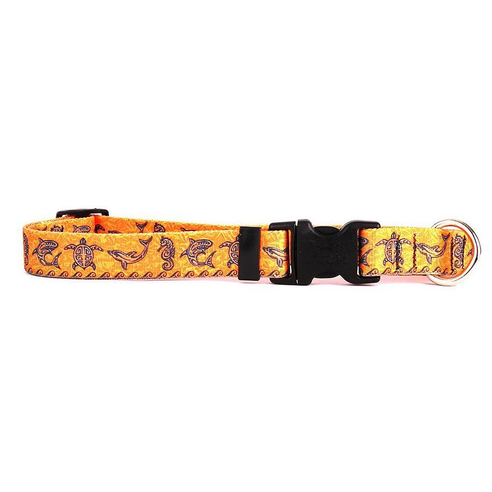 Tribal Seas Dog Collar by Yellow Dog - Orange