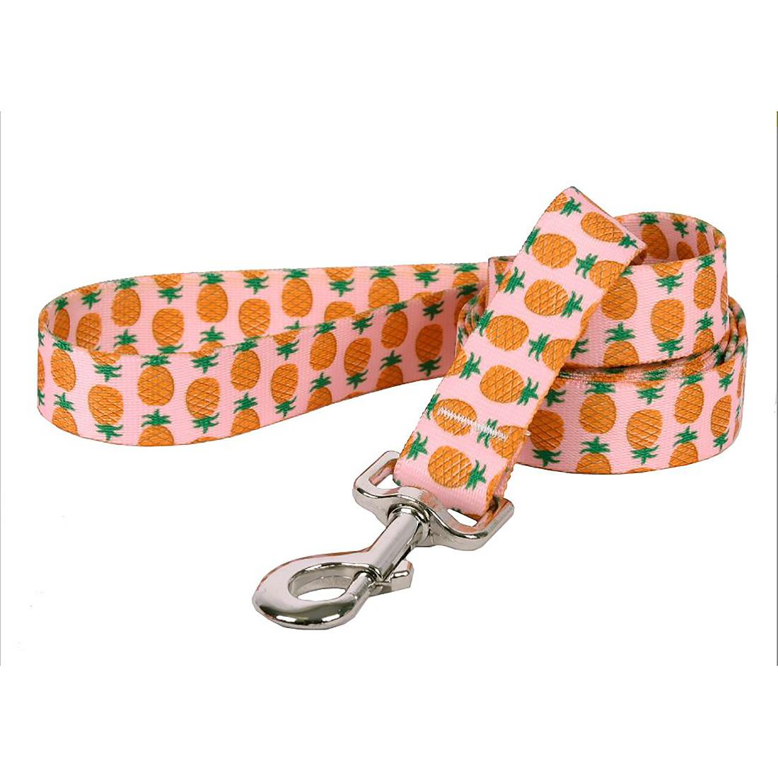 Pineapples on Pink Dog Leash by Yellow Dog