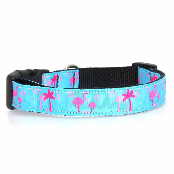 Pink Flamingos Dog Collar