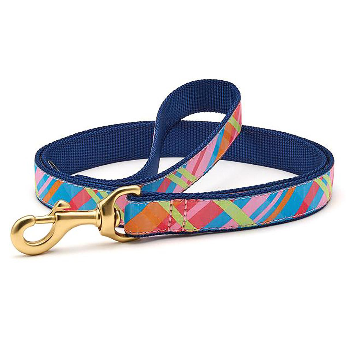 Pink Madras Dog Leash by Up Country
