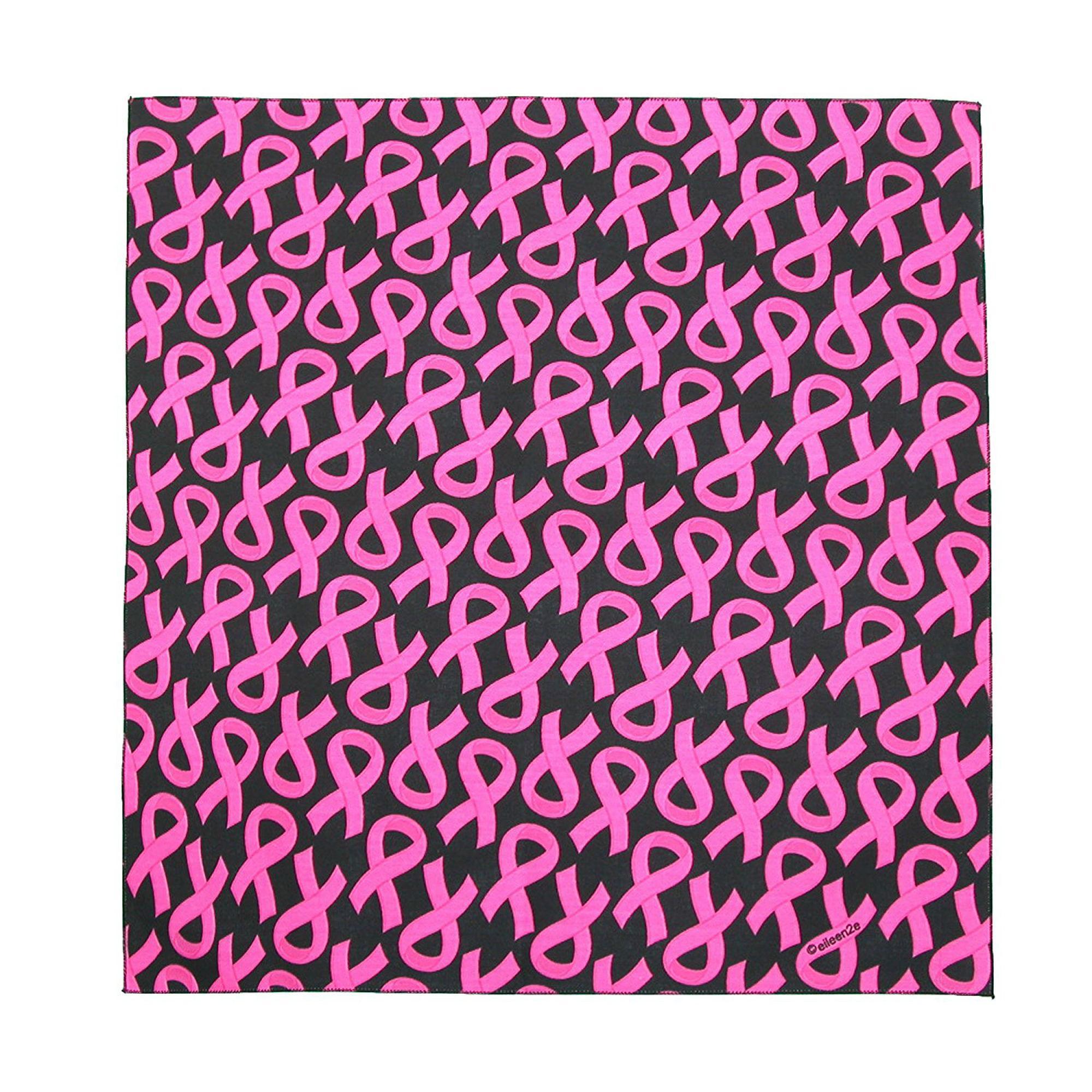 Pink Ribbon Breast Cancer Awareness Dog Bandana