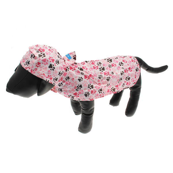 Pitter Patter Packable Dog Rain Poncho - Pink