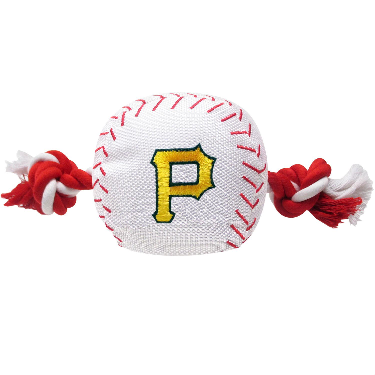 Pittsburgh Pirates Nylon Plush Baseball Rope Dog Toy