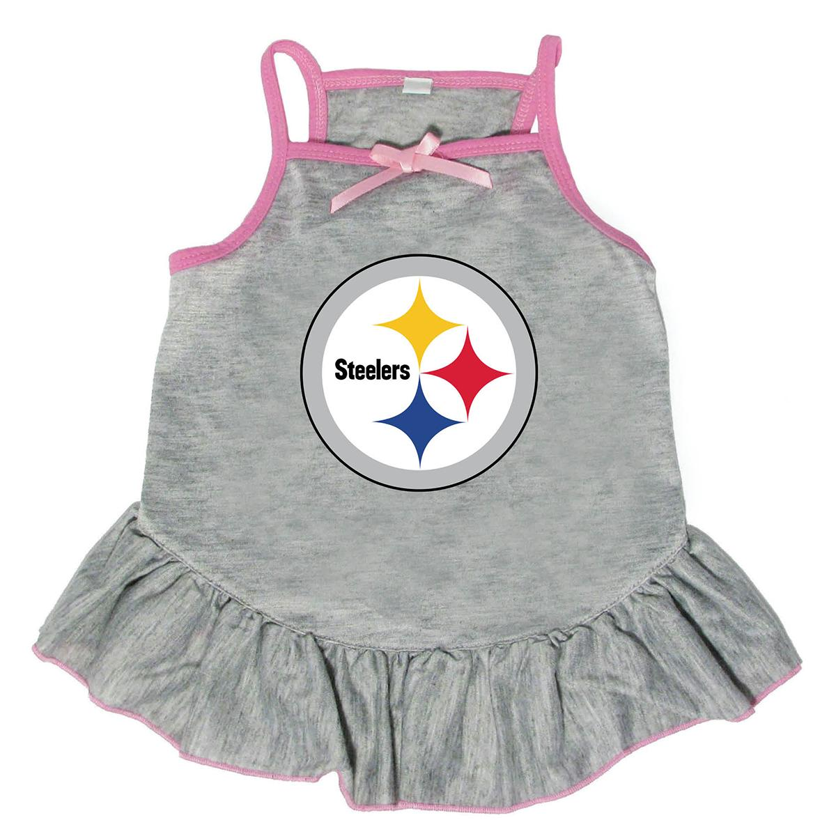Pittsburgh Steelers Dog Dress - Gray