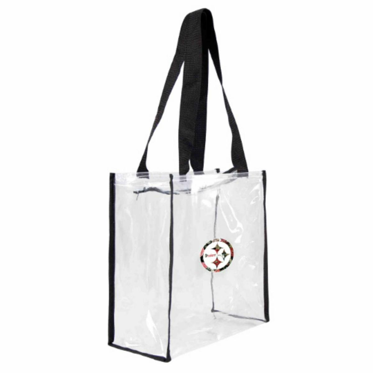 Pittsburgh Steelers Floral Clear Square Stadium Tote