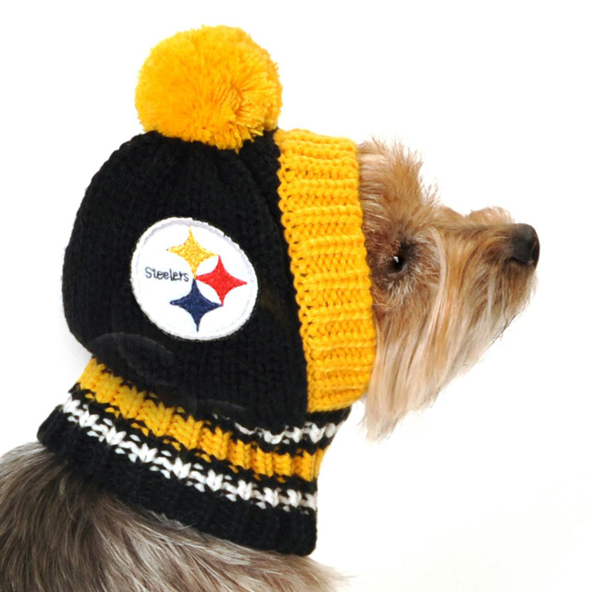 c357bd33 Pittsburgh Steelers Knit Dog Hat | BaxterBoo