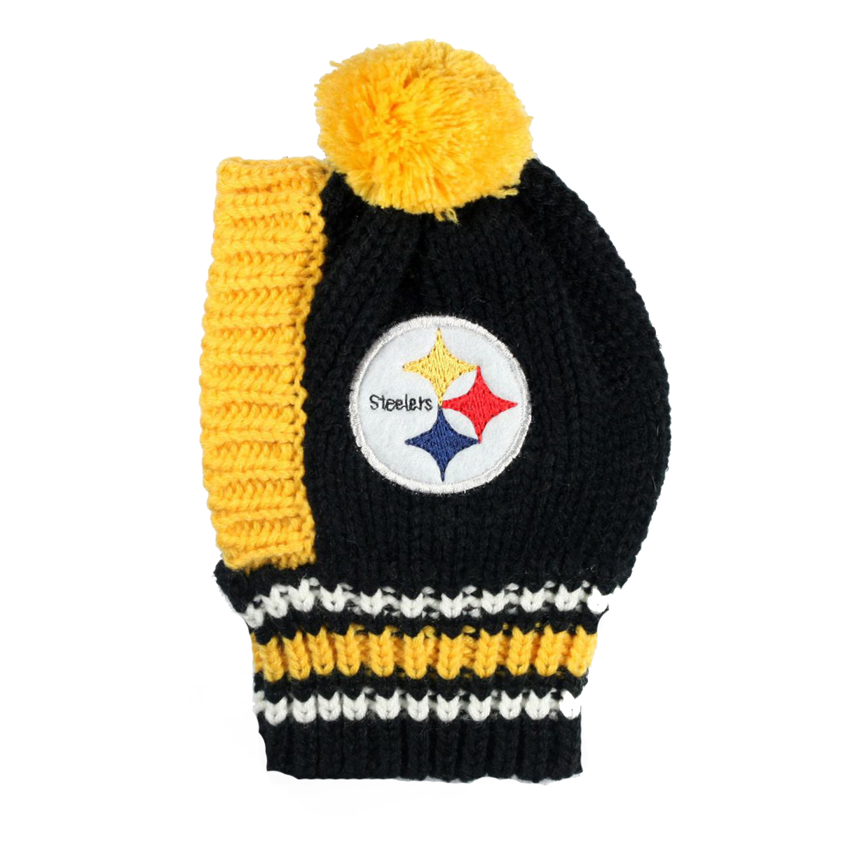 Pittsburgh Steelers Knit Dog Hat  929779c25bc
