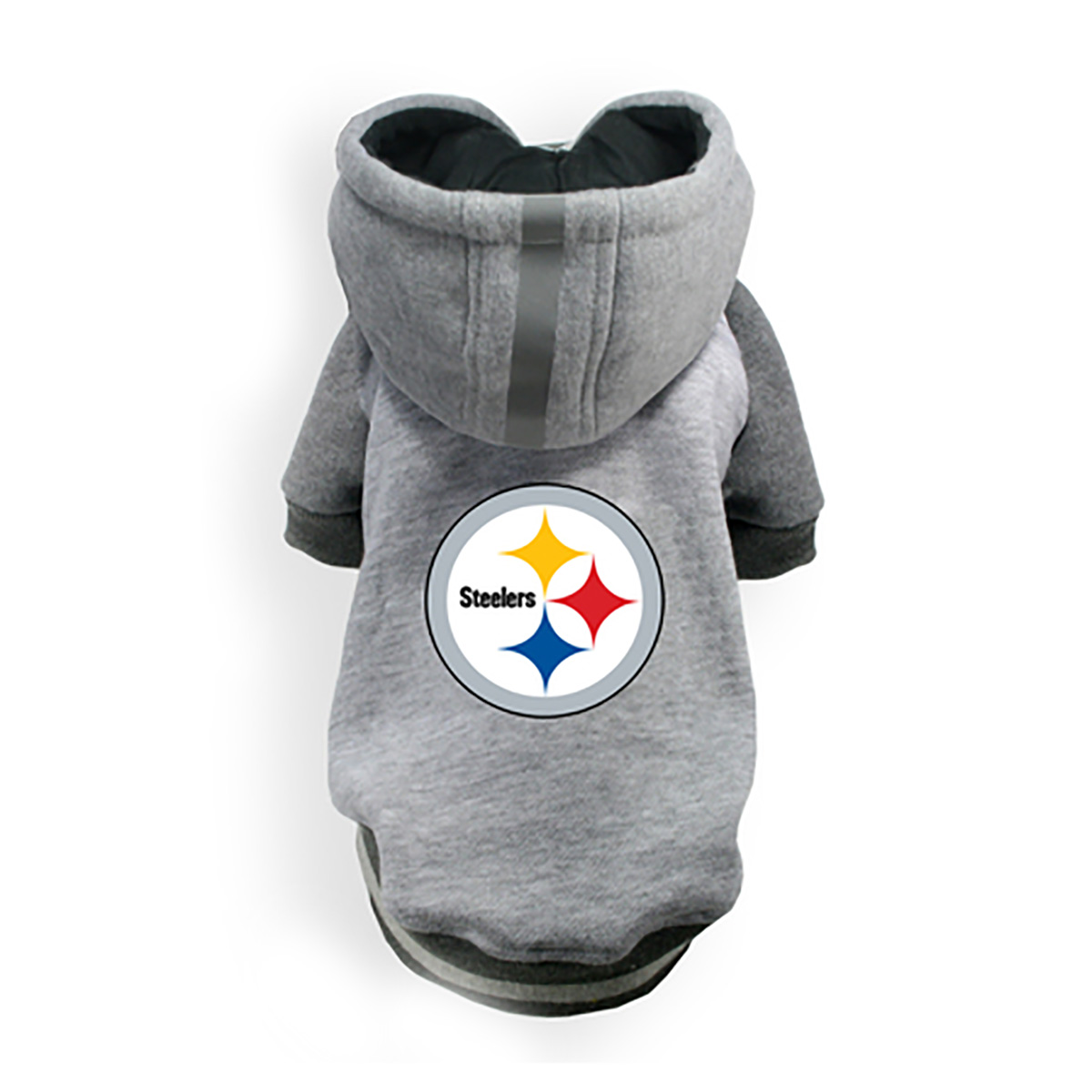 new arrival eac09 9350d Pittsburgh Steelers NFL Dog Hoodie - Gray