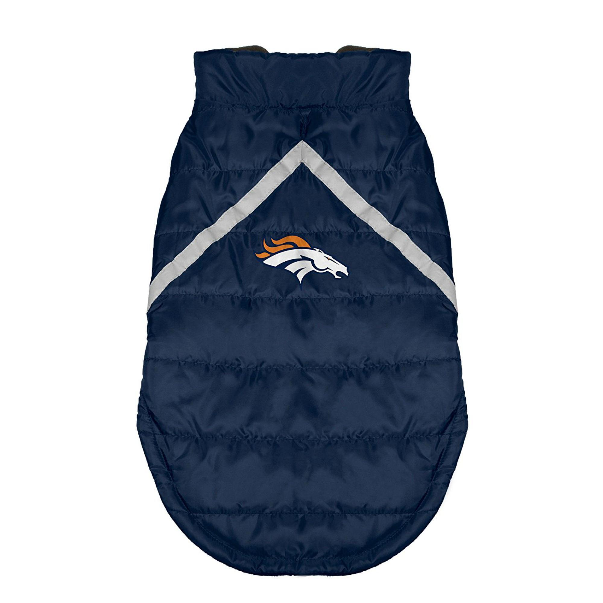 Denver Broncos Sleeveless Dog Puffer Vest