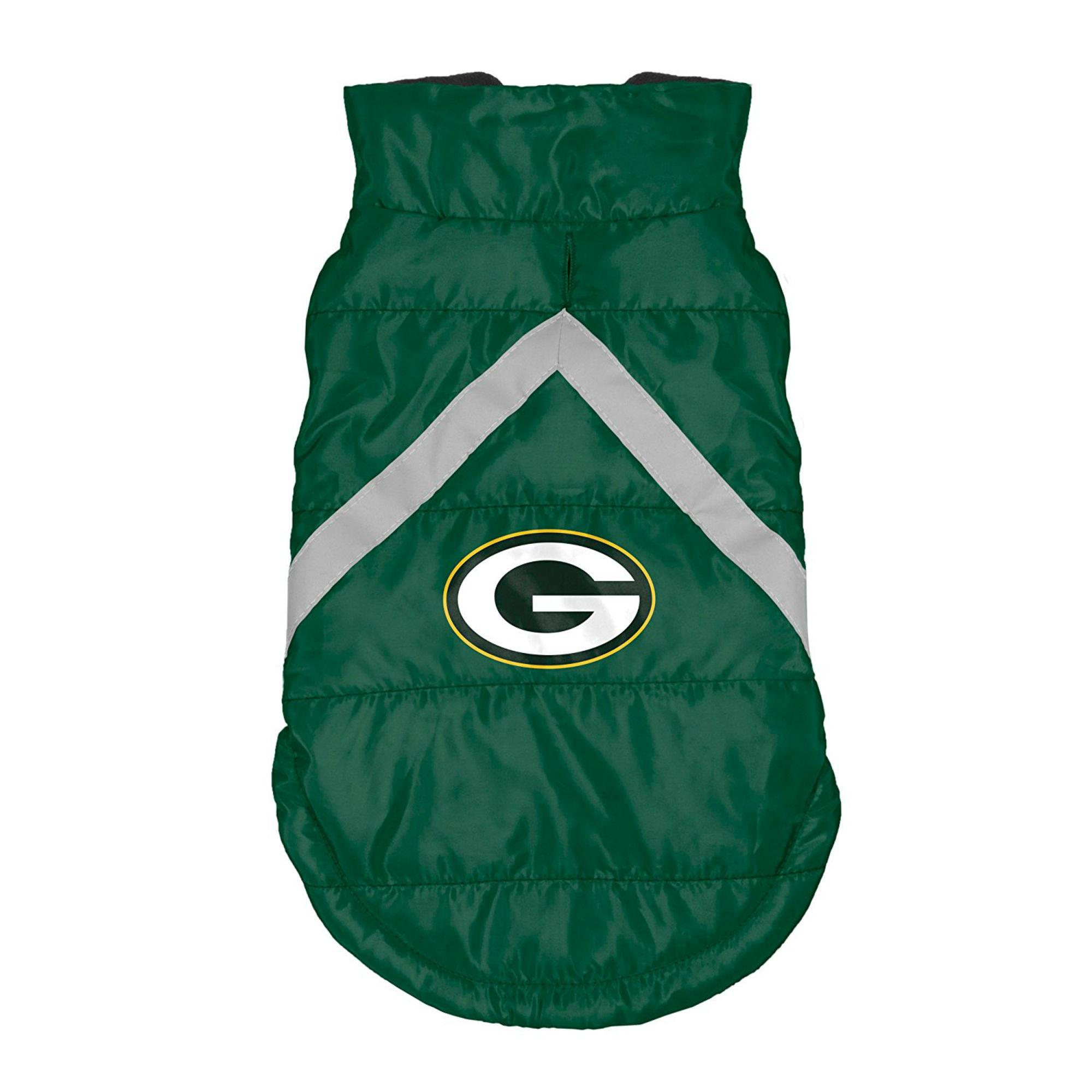 Green Bay Packers Sleeveless Dog Puffer Vest