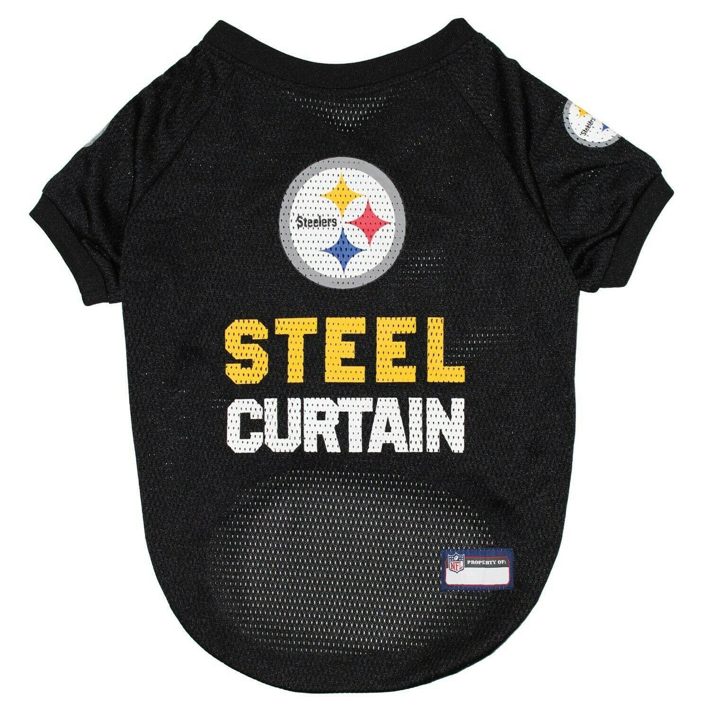 Pittsburgh Steelers Slogan Dog Jersey - Steel Curtain