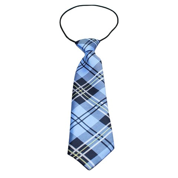 Plaid Big Dog Neck Tie - Blue