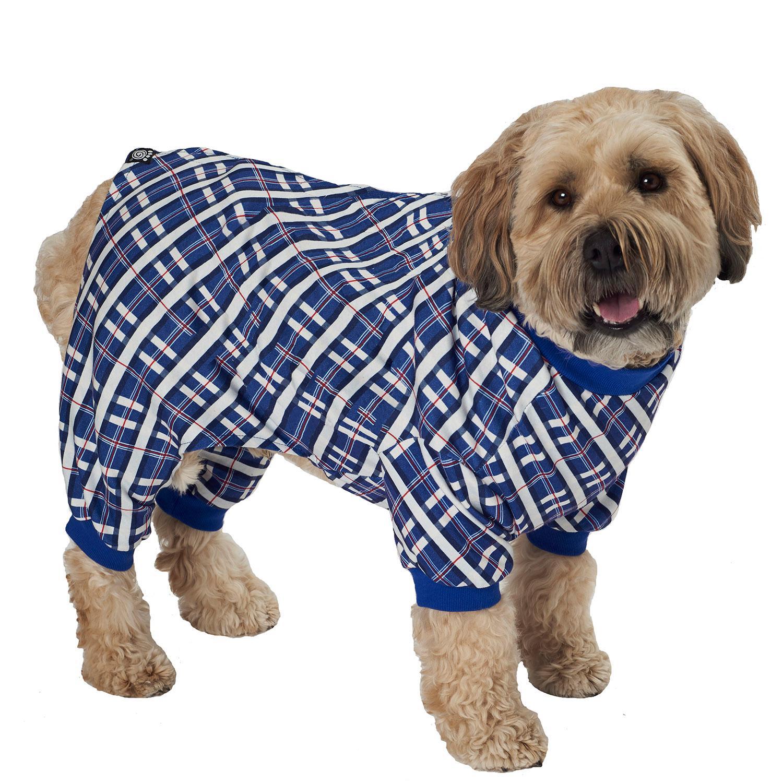 Plaid Dog Pajamas - Blue