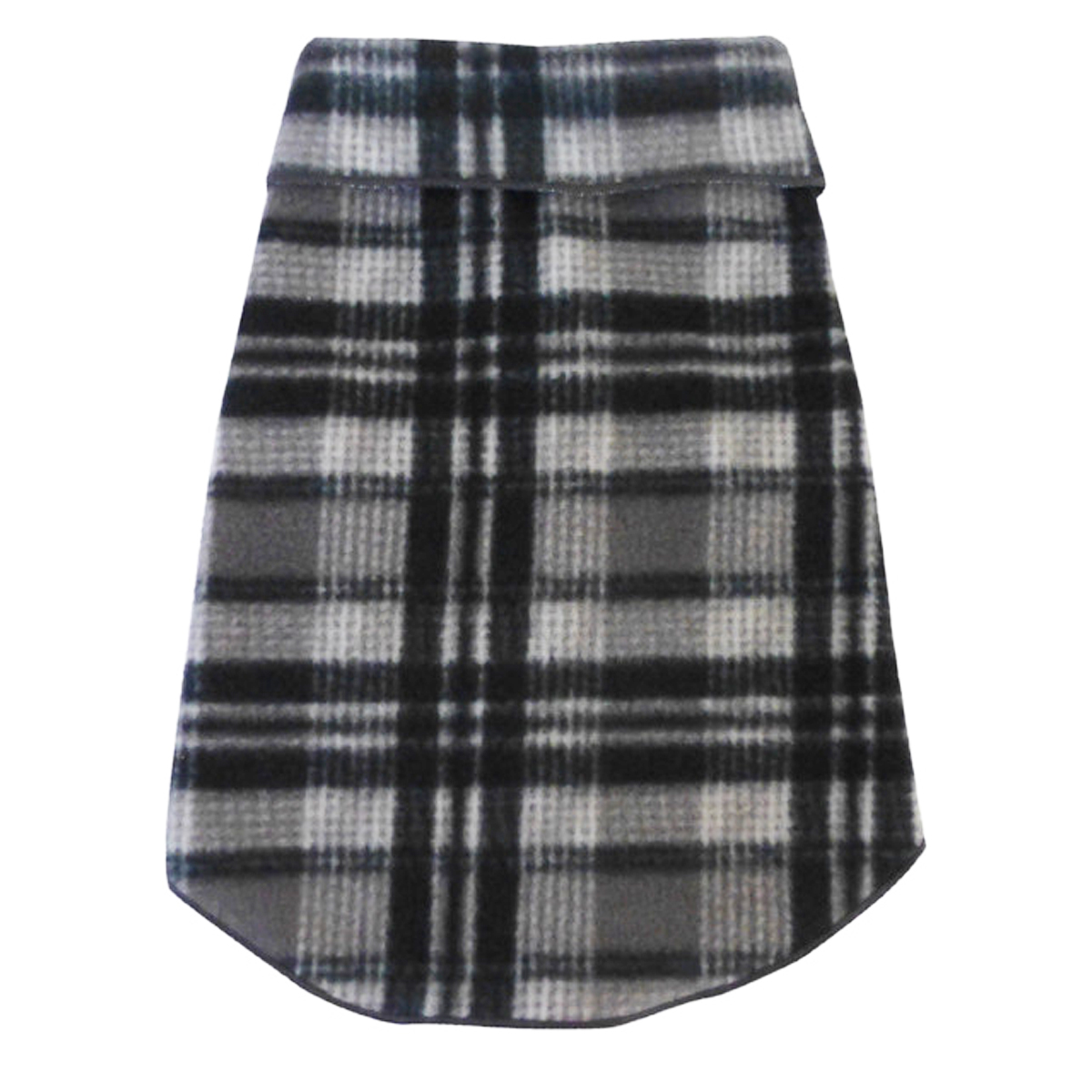 Plaid Dog Pullover - Gray and Black