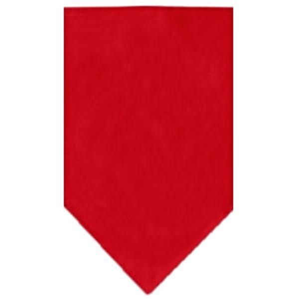 Plain Dog Bandana - Red