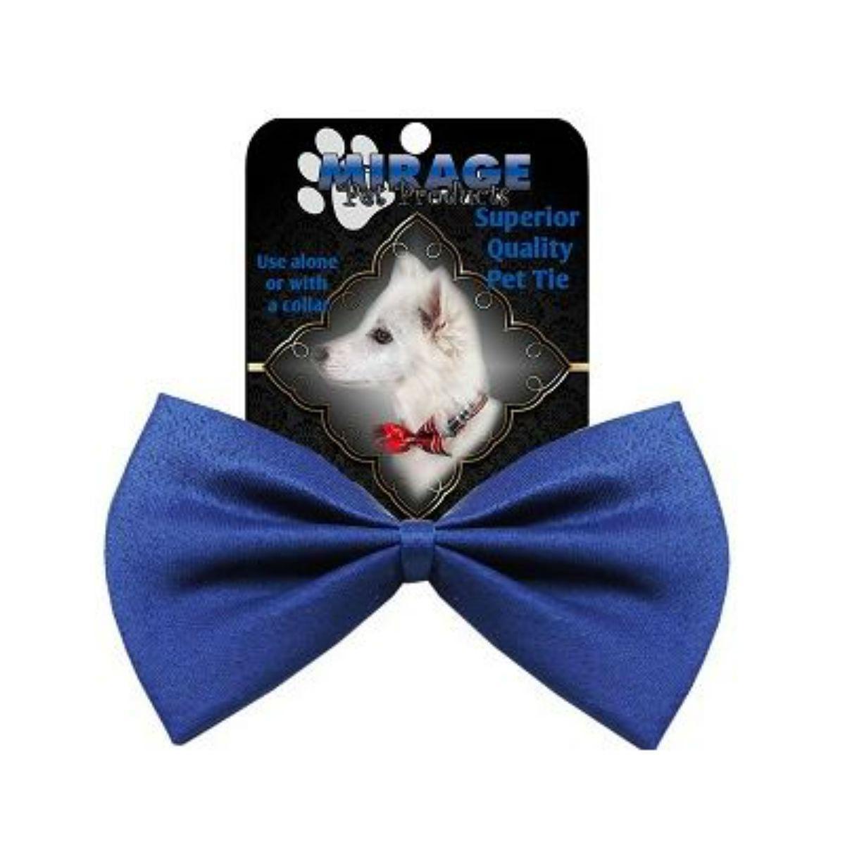 Plain Dog Bow Tie - Blue