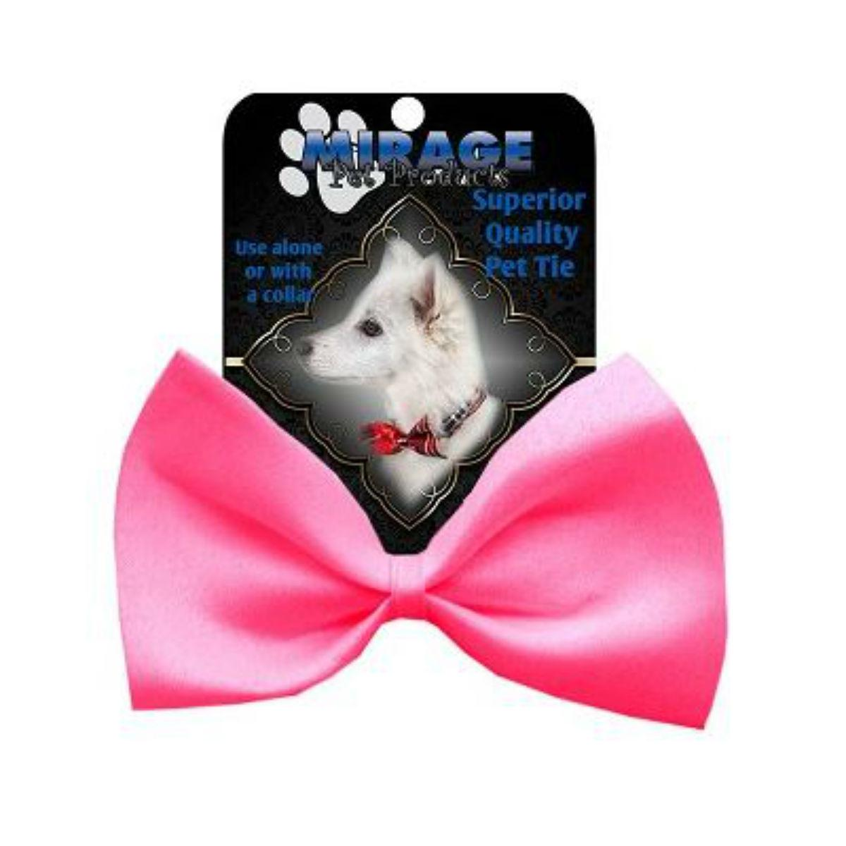Plain Dog Bow Tie - Hot Pink