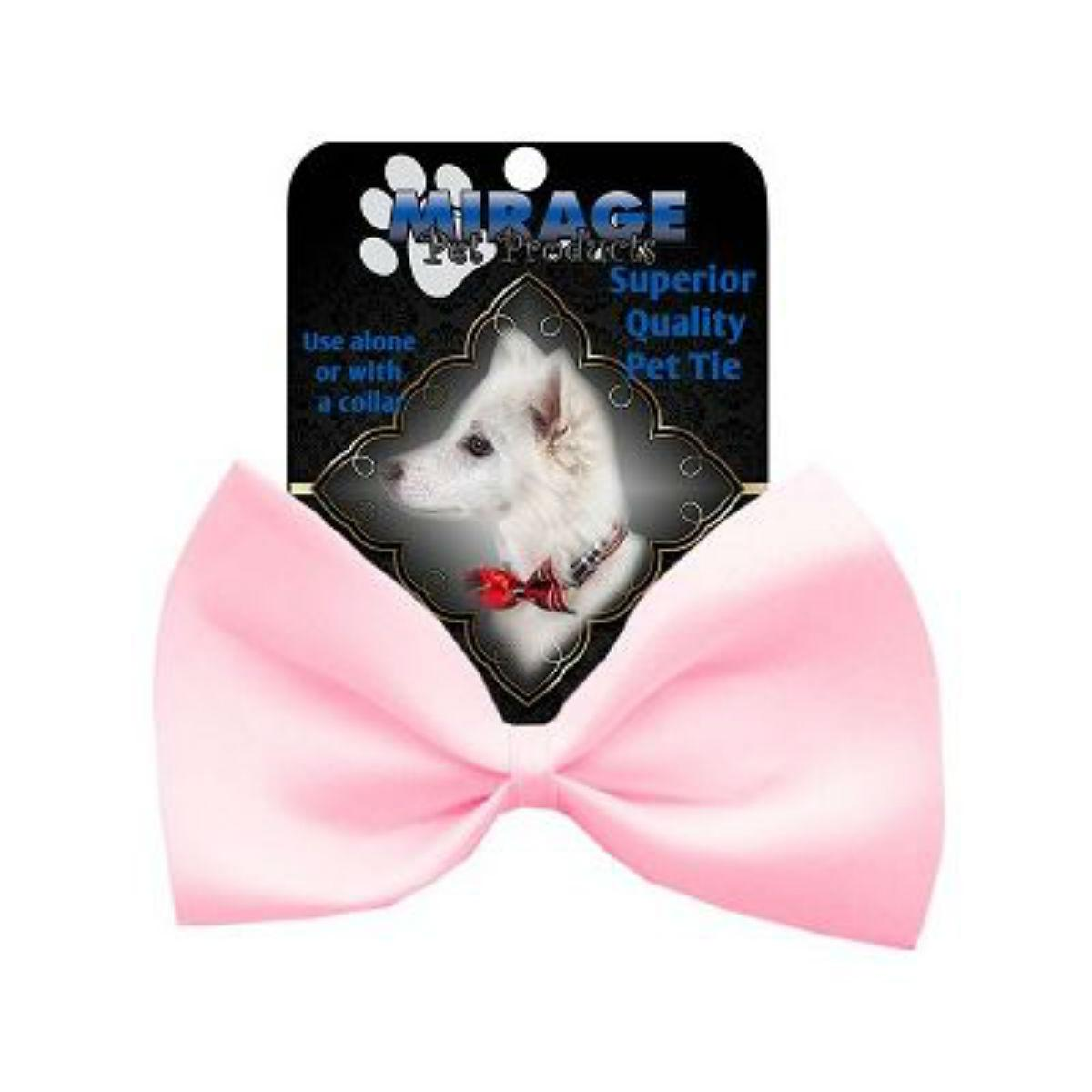 Plain Dog Bow Tie - Light Pink
