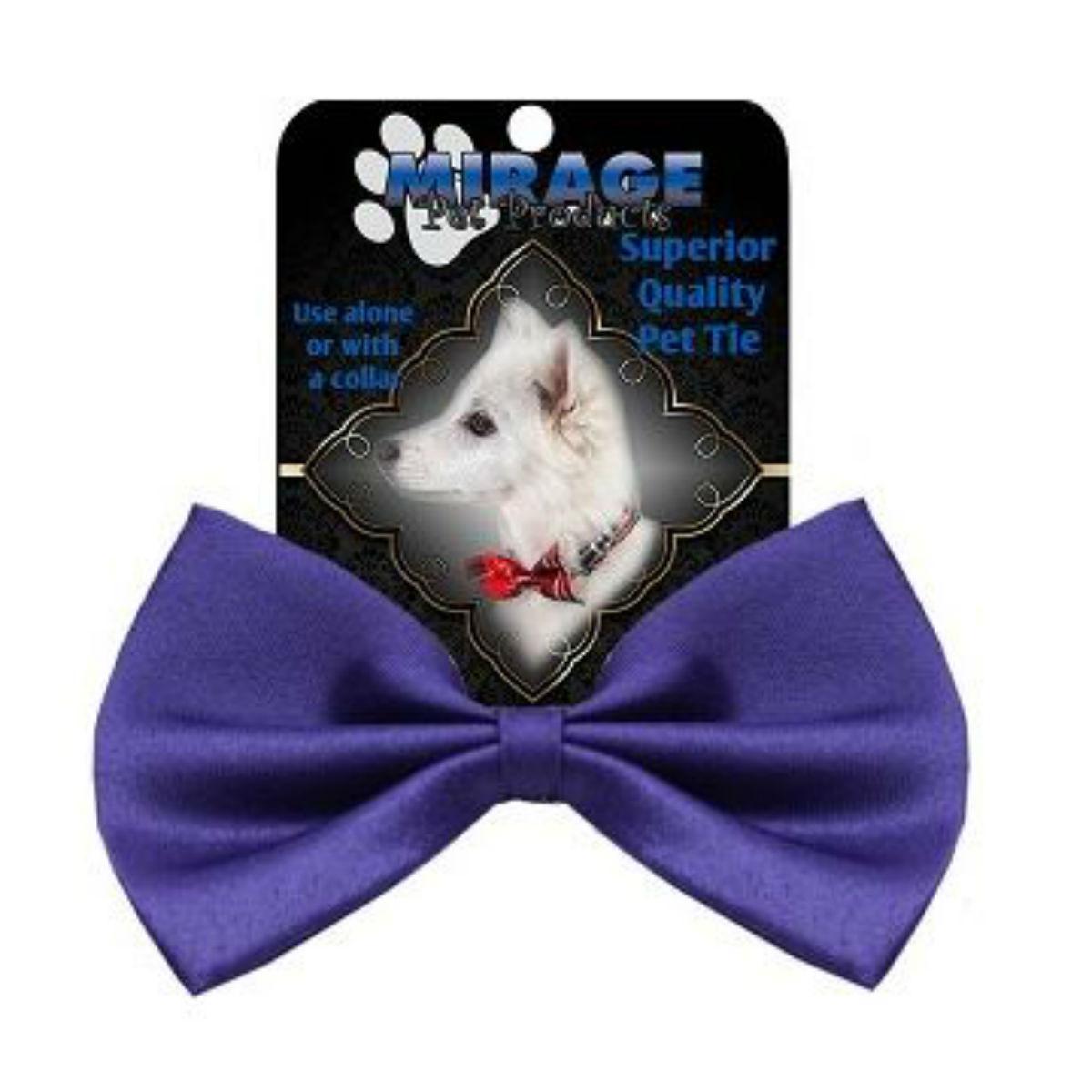 Plain Dog Bow Tie - Purple