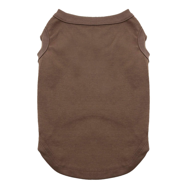 Plain Dog and Cat Shirt - Brown