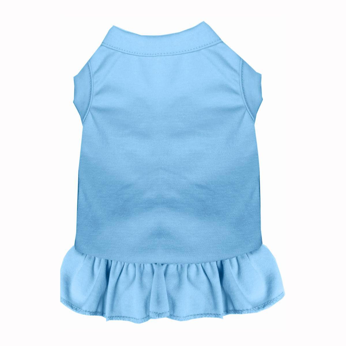 Plain Dog Dress - Baby Blue