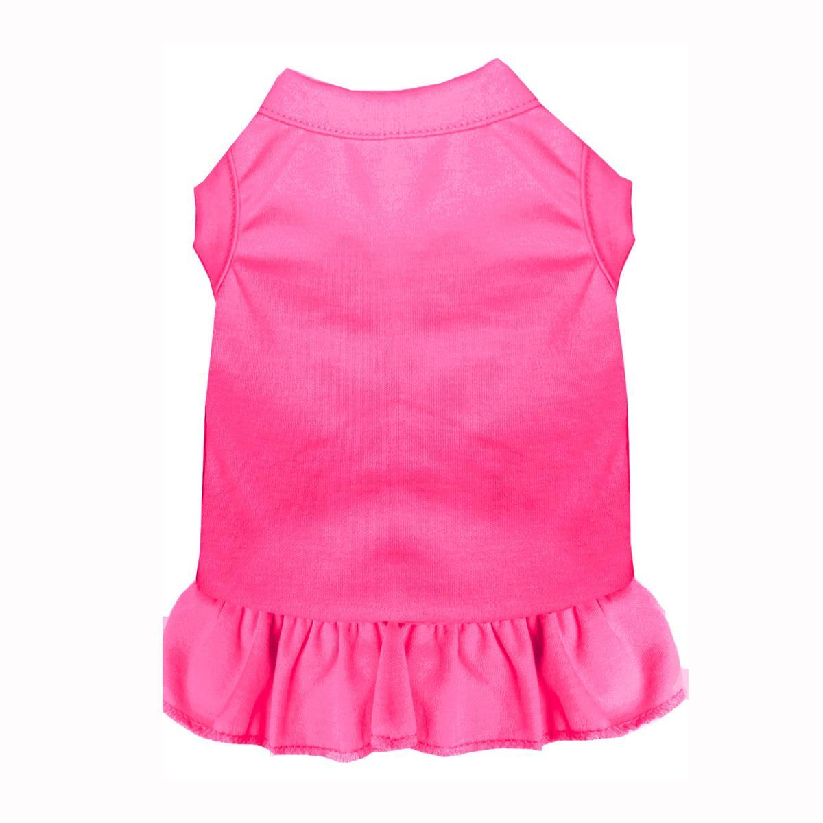 Plain Dog and Cat Dress - Bright Pink