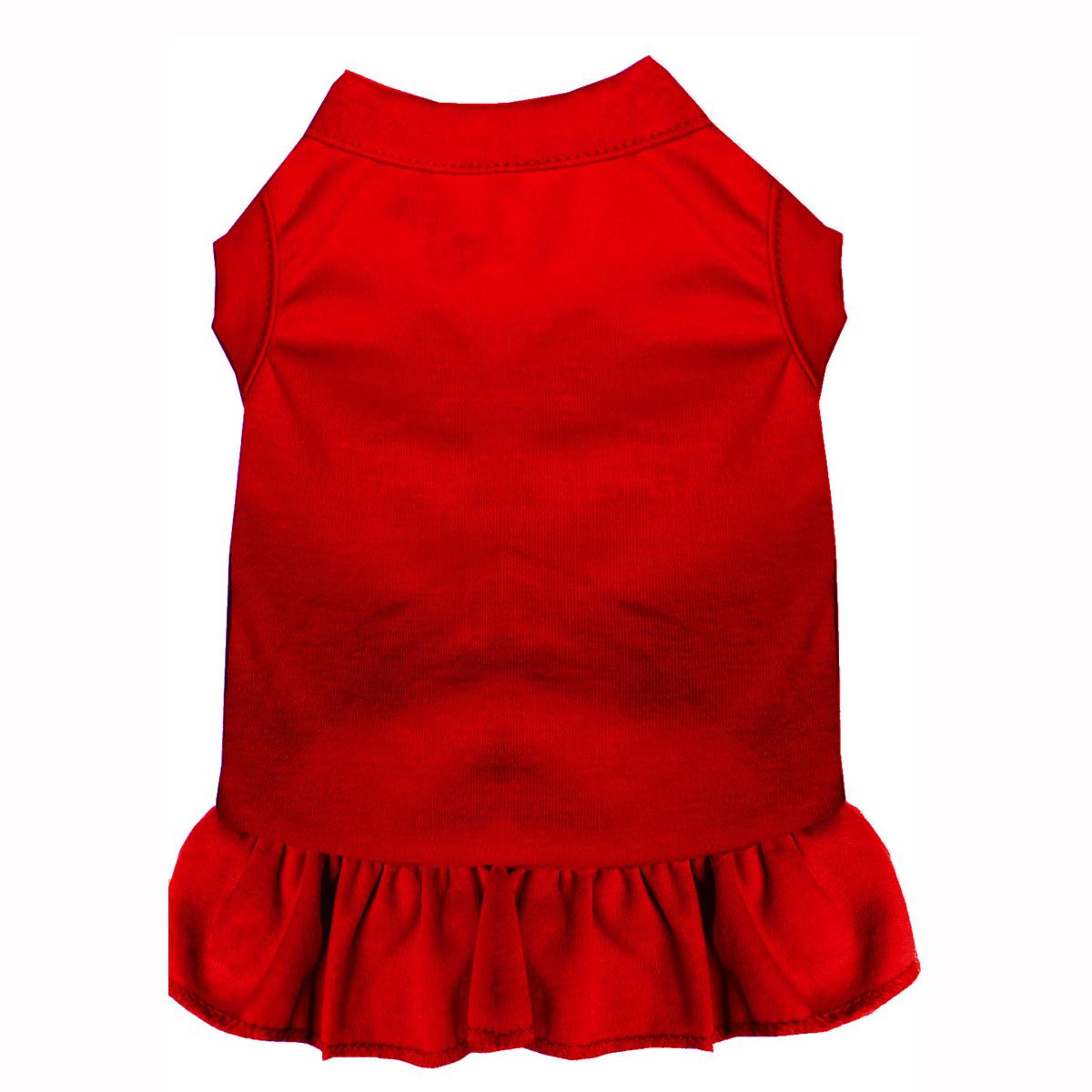 Plain Dog and Cat Dress - Red