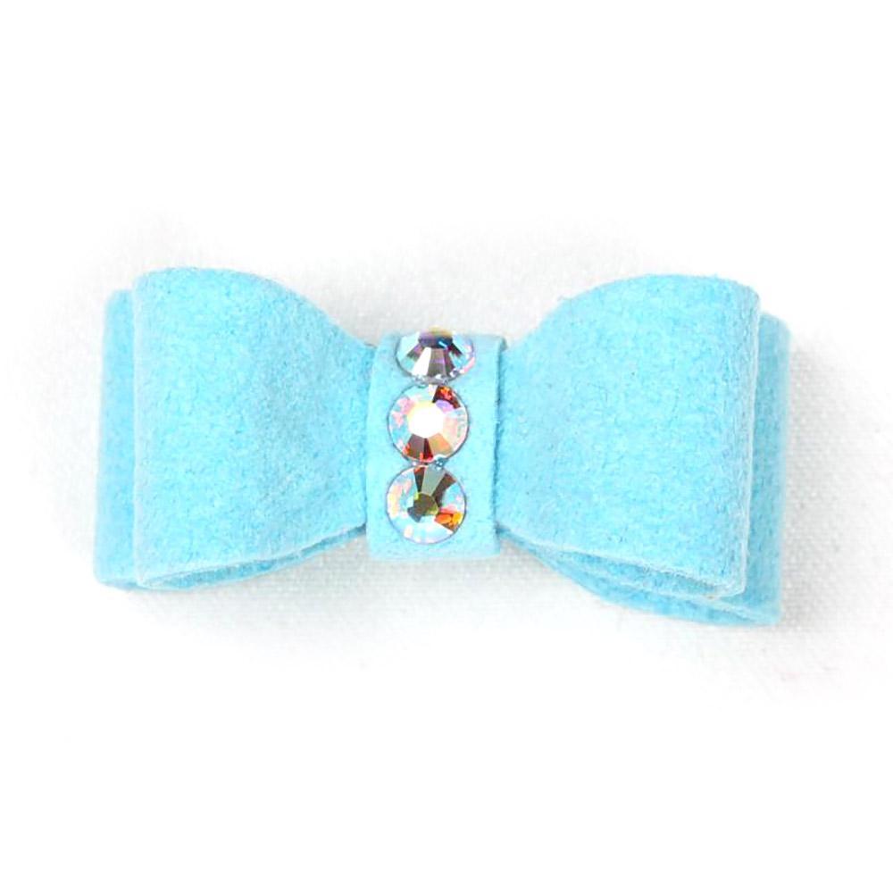 Susan Lanci Dog Hair Bow 2-Piece Set - Tiffi Blue