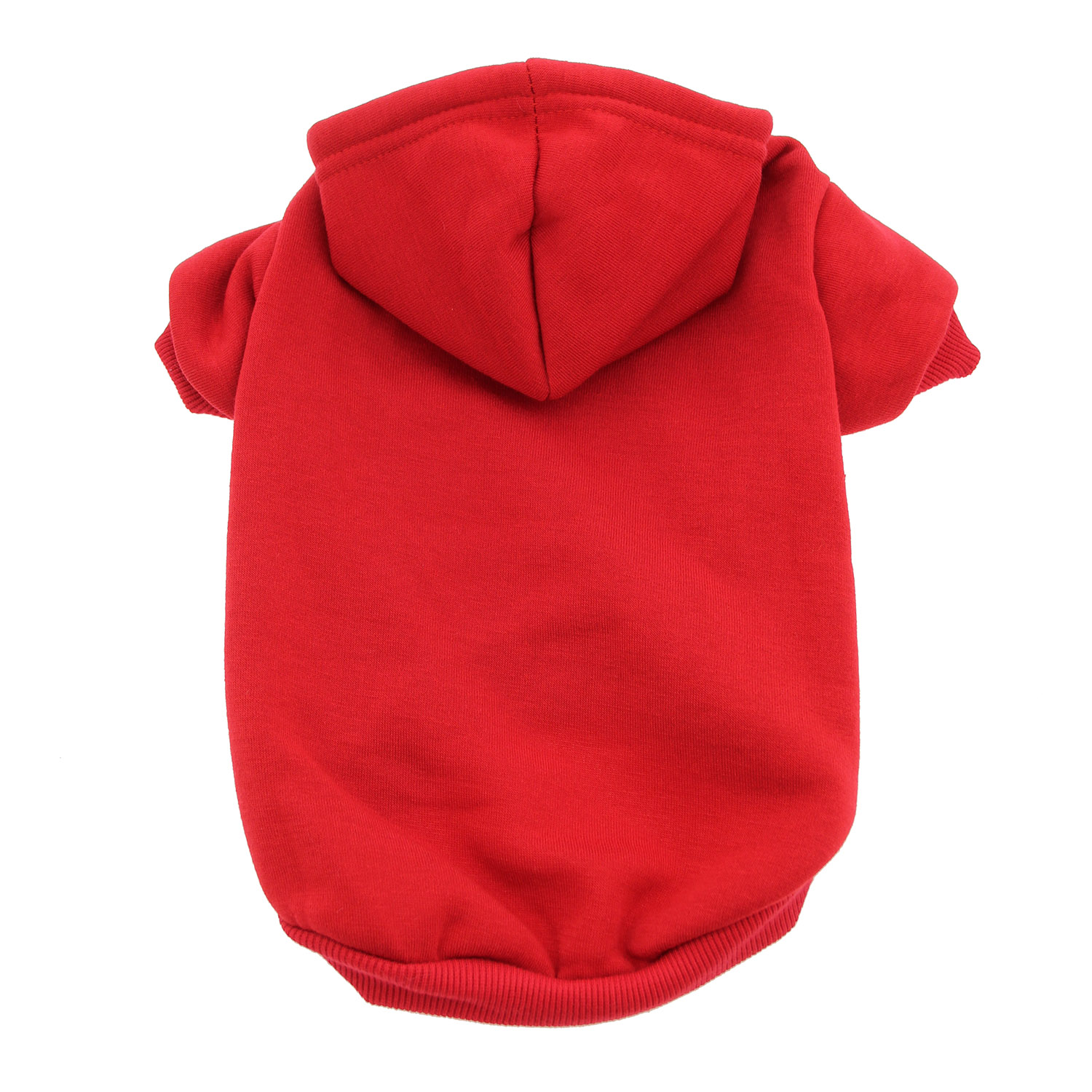 Plain Dog Hoodie - Red